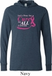 Breast Cancer Awareness Pray for a Cure Lightweight Hoodie Tee
