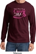 Breast Cancer Awareness Pray for a Cure Long Sleeve Shirt