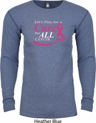 Breast Cancer Awareness Pray for a Cure Long Sleeve Thermal Shirt