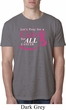 Breast Cancer Awareness Pray for a Cure Mens Burnout Shirt