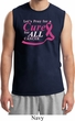 Breast Cancer Awareness Pray for a Cure Mens Muscle Shirt