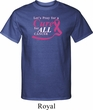 Breast Cancer Awareness Pray for a Cure Mens Tall Shirt
