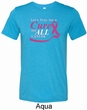 Breast Cancer Awareness Pray for a Cure Mens Tri Blend Crewneck Shirt