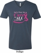 Breast Cancer Awareness Pray for a Cure Mens V-Neck Shirt