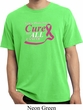 Breast Cancer Awareness Pray for a Cure Pigment Dyed Shirt