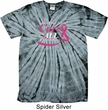 Breast Cancer Awareness Pray for a Cure Spider Tie Dye Shirt