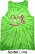 Breast Cancer Awareness Pray for a Cure Tie Dye Tank Top