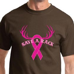 Breast Cancer Awareness Save a Rack Mens Shirts