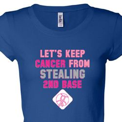 Breast Cancer Awareness Second 2nd Base Ladies Shirts
