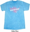 Breast Cancer Awareness Survivor Wings Mineral Tie Dye Shirt