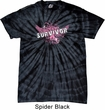 Breast Cancer Awareness Survivor Wings Spider Tie Dye Shirt