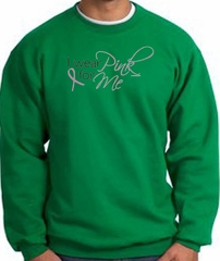Breast Cancer Awareness Sweatshirt - I Wear Pink For Me Kelly Green