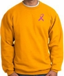 Breast Cancer Awareness Sweatshirt Pink Ribbon Pocket Print Adult Gold