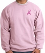 Breast Cancer Awareness Sweatshirt Pink Ribbon Pocket Print Adult Pink