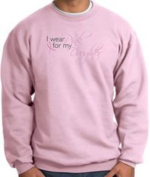 Breast Cancer Awareness Sweatshirts - I Wear Pink For My Daughter