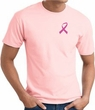 Breast Cancer Awareness T-shirt Pink Ribbon Pocket Print Pink Tee