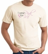 Breast Cancer Awareness T-shirt Ribbon I Wear Pink For Me Natural Tee
