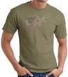 Breast Cancer Awareness T-shirt Ribbon I Wear Pink For Me Olive Tee