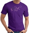 Breast Cancer Awareness T-shirt Ribbon I Wear Pink For Me Purple Tee