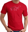Breast Cancer Awareness T-shirt Ribbon I Wear Pink For Me Red Tee