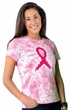 Breast Cancer Awareness T-shirt Ribbon Tie Dye Adult Tee