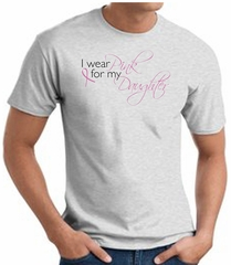 Breast Cancer Awareness T-shirt Wear Pink For My Daughter Ash Shirt