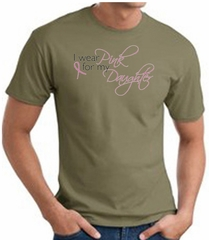 Breast Cancer Awareness T-shirt Wear Pink For My Daughter Olive Shirt