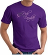Breast Cancer Awareness T-shirt Wear Pink For My Daughter Purple Tee