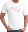 Breast Cancer Awareness T-shirt Wear Pink For My Daughter White Shirt