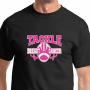 Breast Cancer Awareness Tackle Cancer Mens Shirts