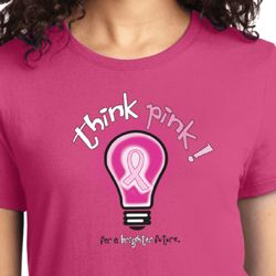 Breast Cancer Awareness Think Pink Ladies Shirts