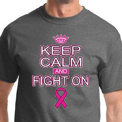 Breast Cancer Awareness Keep Calm Mens Shirts