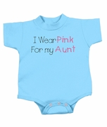 Breast Cancer Baby Romper Infant Creeper - I Wear Pink For My Aunt