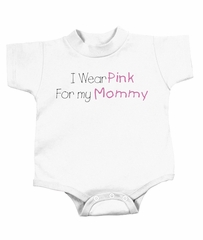Breast Cancer Baby Rompers - I Wear Pink For My Mommy White