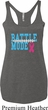 Breast Cancer Battle Mode Ladies Tri Blend Racerback Tank Top