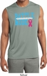 Breast Cancer Battle Mode Mens Sleeveless Moisture Wicking Shirt