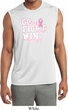 Breast Cancer Go Fight Win Mens Sleeveless Moisture Wicking Shirt