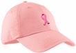 Breast Cancer Hat Embroidered Ribbon Ladies Cotton Twill Cap