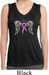 Breast Cancer Heaven Can Wait Ladies Sleeveless Moisture Wicking Shirt