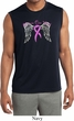 Breast Cancer Heaven Can Wait Mens Sleeveless Moisture Wicking Shirt