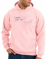 Breast Cancer Hoodie Hooded Sweatshirt Pink For My Daughter Pink Hoody