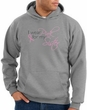 Breast Cancer Hoodie I Wear Pink For My Sister Grey Hoody