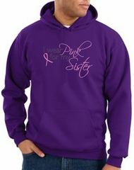 Breast Cancer Hoodie I Wear Pink For My Sister Purple Hoody