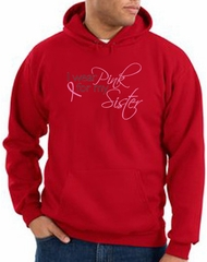 Breast Cancer Hoodie I Wear Pink For My Sister Red Hoody