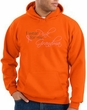 Breast Cancer Hoodie Sweatshirt I Wear Pink For Grandma Orange Hoody