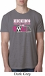 Breast Cancer Kicking Breast Cancer is Our Goal Mens Burnout Shirt