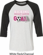 Breast Cancer Kicking Breast Cancer is Our Goal Mens Raglan Shirt