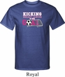 Breast Cancer Kicking Breast Cancer is Our Goal Mens Tall Shirt