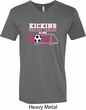 Breast Cancer Kicking Breast Cancer is Our Goal Mens V-Neck Shirt
