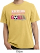 Breast Cancer Kicking Breast Cancer is Our Goal Pigment Dyed Shirt
